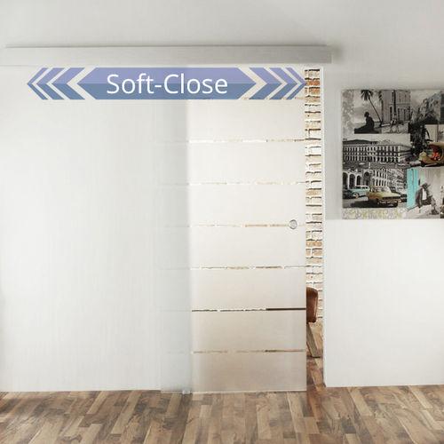 jetzt neu glasschiebet r softclose ger uschlos schlie ende t ren. Black Bedroom Furniture Sets. Home Design Ideas