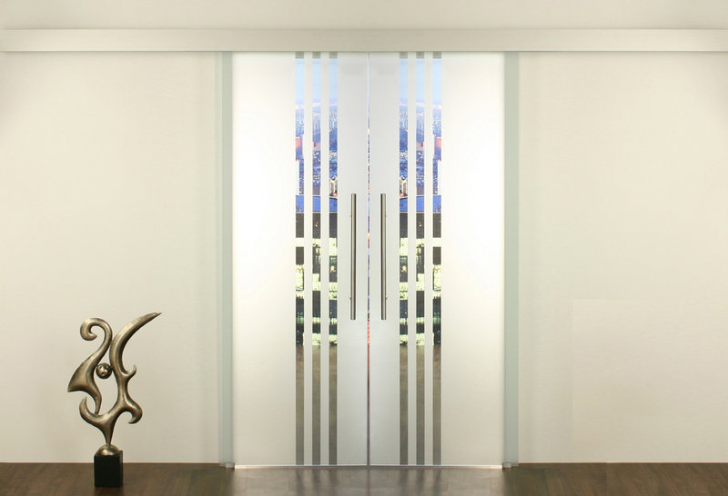 Schiebetür glas design  Glasschiebetür - Set 6SA900-2flügelig Glasschiebetüren