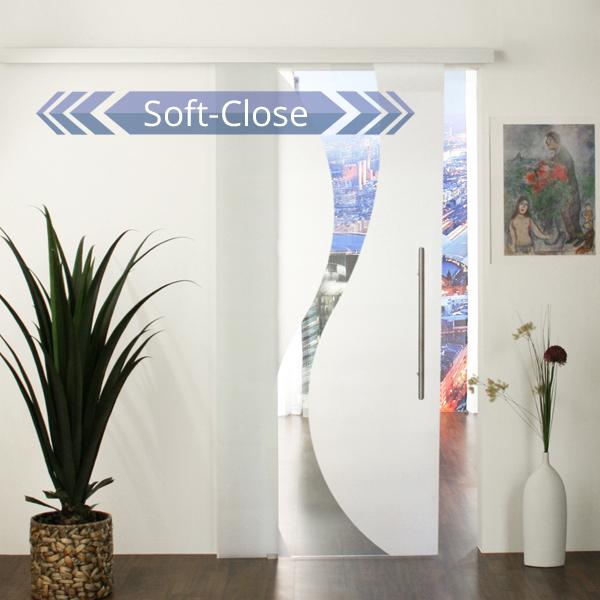 Glasschiebetür-Set 16SA900-SoftStop - jetzt kostenloser Versand!