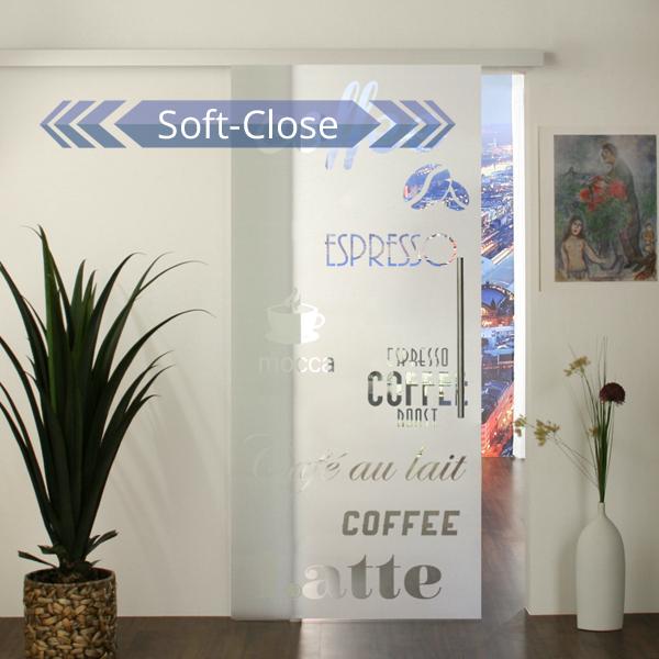 Glasschiebetür-Set 36SA900-SoftClose für Ihre Küche