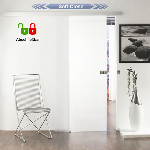 Soft-Close mit Schloß glasschiebetür-Set mit Schloß 1GAH900-Soft