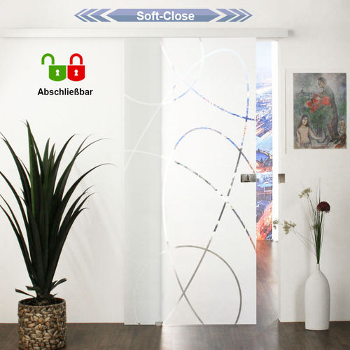 Soft-Close mit Schloß glasschiebetür-Set mit Schloß 20GAH775-Soft